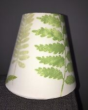 Candle Clip Lampshade Prestigious Fern Field Green White Wall Light Chandelier