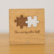 You Are My Other Half - Cute Jigsaw Puzzle Wooden Valentines Love Plaque Sign