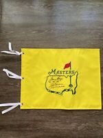 Jack Nicklas and Gary Player Signed undated Masters Flag with dates They won