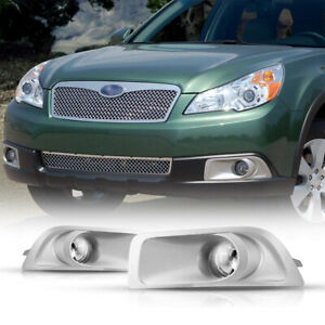 2Pcs Front Grills Bumper Driving Halogen Lamp Fog Light For Subaru Outback 10-12