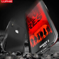 Luphie Hybrid Aluminum Metal Bumper Case Cover For iPhone 11 Pro Xs Max XR X 7 8