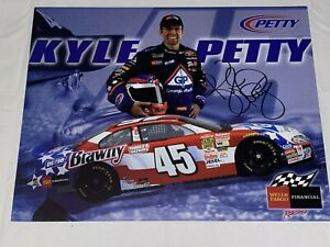 Kyle Petty autographed VINTAGE NASCAR WINSTON CUP BRAWNY #45 DODGE 2003 HERO pic