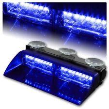 16 LED Amber 18W Windshield Suction Construction Flash Strobe Light Dash Blue