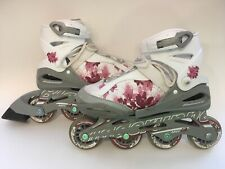 Rollerblade Bladerunner, Phoenix Girl's Adjustable Size Inline Skate, Pink/White