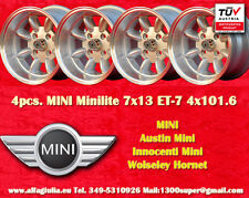 4 Cerchi Mini Minilite 7x13 ET-7 PCD 4x101.6 Wheels Felgen Llantas Jantes TUV