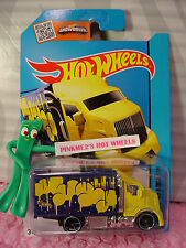 Case G/H 2015 i Hot Wheels HIWAY HAULER 2 #28∞Yellow/Blue;Balloons∞Art Cars∞NEW