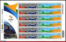3294-FO BRAZIL 2015 (dated 2012) PARALYMPIC GAMES RIO 2016, DELIVERY OF FLAG,MNH