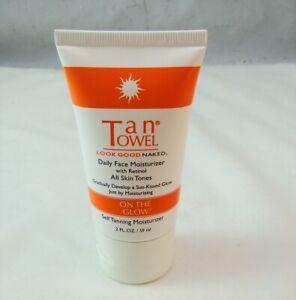 TanTowel Daily Face Moisturizer w Retinol 2 oz 59 ml NEW NWOB Sealed inside