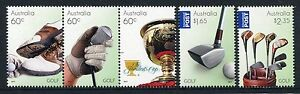 2011 Golf in Australia - MUH Complete Set of 5 Stamps