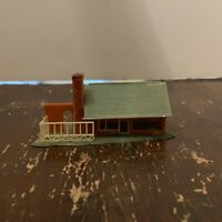 Vintage Plastic Brown House Model Railroad N Scale