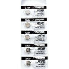 5Pcs Energizer 395 399 (SR927SW) (SR927W) Silver Oxide Watch Batteries