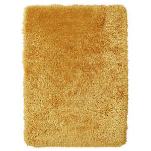Think Rugs Montana Modern Super Heavy Weight Hand tufted Shaggy Yellow Rugs