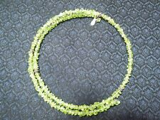 "Sterling Silver & Natural Peridot Coil Collar Open Clasp 18"" Necklace India"