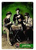 JAMESON TIN SIGN IRISH WHISKEY DUBLIN IRELAND CORK PUB BAR POKER TABLE CHIP