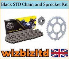 Kit de cadena y piñones negros para motos KTM