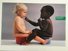 UNITED COLORS OF BENETTON,RARE  AUTHENTIC 1990'S POSTER