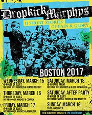 Dropkick Murphys 2017 Boston Concert Tour Poster - Ska / Celtic Punk Music
