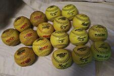 Used Lot of 17 BP LC 52/300 Slowpitch Softballs