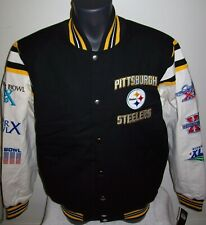 PITTSBURGH STEELERS 6 Time Super Bowl CHAMPIONSHIP Jacket  S M L XL 2X