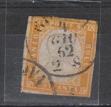 FRANCOBOLLI 1862 SARDEGNA 80 C. USATO GENOVA 4/6 A/1357