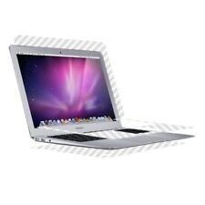 Skinomi Carbon Fiber Silver Skin Cover for Apple MacBook Air 13 in. (2008)