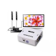 Premium 1080P HDMI2VGA MINI HDMI To VGA Audio Video HDTV Converter Adapter HDV