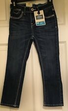 NEW Girls Levis Signature Dark Wash Skinny Jeans with Stretch Adjustable Waist 4