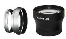 Tele Lens + Lens Hood with Adapter Ring Tube for Fuji FujiFilm X100 X100s bundle