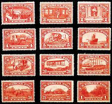 Rare Stamp Set #Q1-Q12 1c-$1 Carmine Rose Parcel Post 1913 Choice *MLH* Nice Set