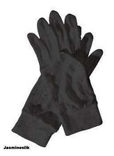 Jasmine Silk 100% Pure Silk gloves liner Inner Gloves Large L BLACK