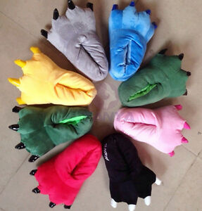 Adult Men & Women Animal  Cartoon Cosplay Pajamas Slippers Paw Claw Shoes