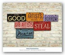 ART PRINT Picasso Steal Good Artists Borrow Great Artists Steal Greg Constantine