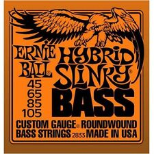 Bass Guitar Strings Ernie Ball 2833 Set 45-105 Hybrid Slinky Gauge Round Wound