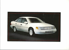 "1987 MERCURY SABLE LIMITED EDITION WHITE MONOCHROMATIC ""NOS"" POST CARD 5""X9"""