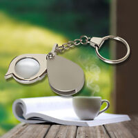 8X Pocket Folding Magnifier Loupe Magnifying Glass Lens With Keychain Portable