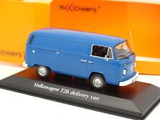 Minichamps 1/43 - VW Combi T2B Delivery Van Bleu - Maxichamps