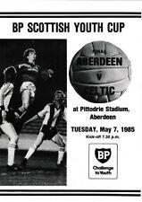 Aberdeen Home Team Under 18s/ 21s Football Programmes