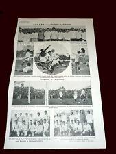 FOOTBALL ROCA CUP 1923 ARGENTINA vs BRAZIL - ARGENTINA vs URUGUAY Original Sheet
