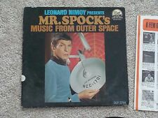 Leonard Nimoy presents Mr Spock Music From Outer Space LP Vinyl Record LP NM/VG+