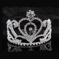 Cancella Strass Dimond Tiara Nuziale Corona Fascia Per Capelli Parrucchino Pettine UK