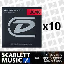 10x Dunlop DEN-1046 Nickel Plated Steel Light Electric Guitar Strings 10 - 46