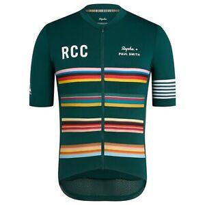NEW Rapha RCC x Paul Smith Men Cycling XL Pro Team Midweight Jersey Short Sleeve