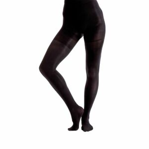 Black Body Shaping Opaque Tights Large