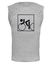 Unisex Muskelshirt ärmellos Tank Top Rennrad-Piktogramm speed cycling Radsport