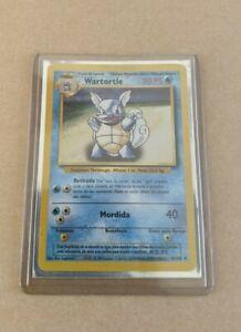 Pokemon Wartortle Portuguese Error PLAYED 42/102 Base Set Evolution 1999