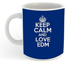 Keep Calm et amour EDM Tasse - Bleu