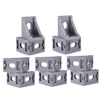 10pcs 28x 28mm Grey Aluminum L Shape Brace Corner Joint Bracket Right Angle