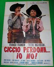 Y5 MANIFESTO ORIGINALE 4F  CICCIO PERDONA IO NO FRANCO FRANCHI INGRASSIA