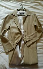 Vintage Real Leather By Futura England Long Coat In Beige