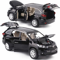 Toyota Highlander SUV 1:32 Diecast Model Car Toy Collection Sound&Light Gift